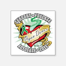 """Organ-Donor-Classic-Tattoo Square Sticker 3"""" x 3"""""""