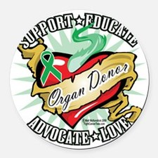 Organ-Donor-Classic-Tattoo Round Car Magnet