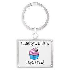 Mommys cupcake skull Landscape Keychain