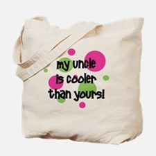 myuncleiscoolerthanyours_pinkcircles Tote Bag