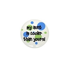 myauntiscoolerthanyours_bluecircles Mini Button