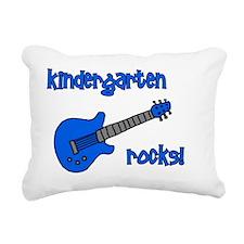 kindergartenrocks_blue Rectangular Canvas Pillow