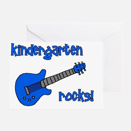 kindergartenrocks_blue Greeting Card