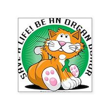 "Organ-Donor-Cat Square Sticker 3"" x 3"""