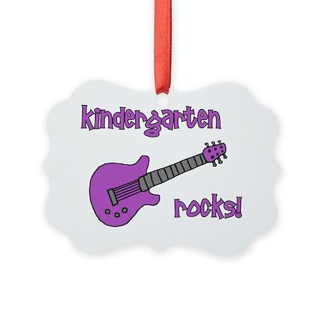 kindergartenrocks_purple Picture Ornament