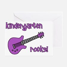 kindergartenrocks_purple Greeting Card