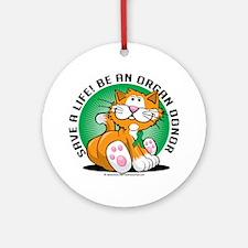 Organ-Donor-Cat Round Ornament