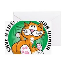 Organ-Donor-Cat Greeting Card