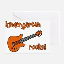 kindergartenrocks_orange Greeting Card