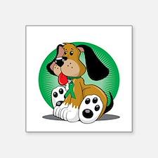 "Organ-Donor-Dog-blk Square Sticker 3"" x 3"""
