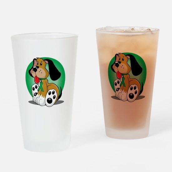 Organ-Donor-Dog-blk Drinking Glass
