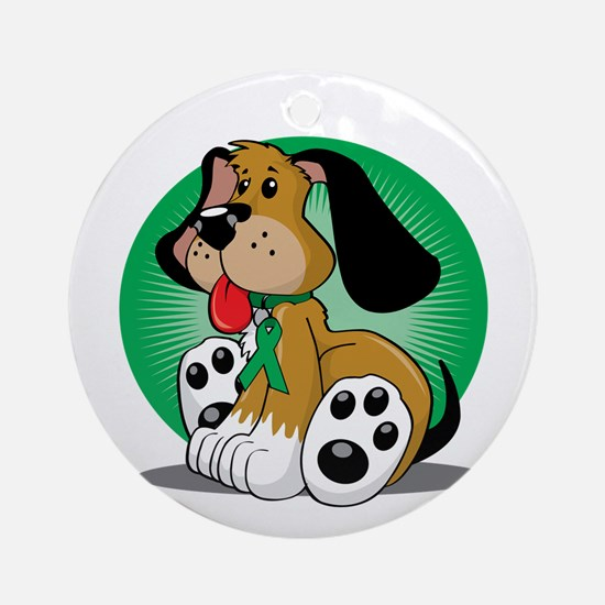 Organ-Donor-Dog-blk Round Ornament