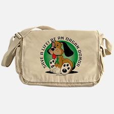 Organ-Donor-Dog Messenger Bag