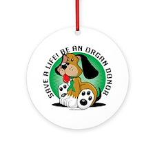 Organ-Donor-Dog Round Ornament