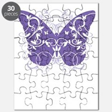 Alzheimers-Butterfly-blk Puzzle
