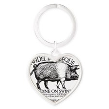 infidel barbeque Heart Keychain