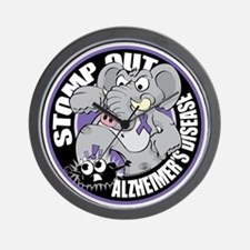 Stomp-Out-Alzheimers-Circle Wall Clock