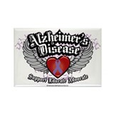 Alzheimers ribbon Magnets