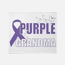 Alzheimers-Purple-For-GRANDMA-2009-b Throw Blanket