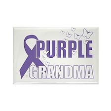 Alzheimers-Purple-For-GRANDMA-200 Rectangle Magnet