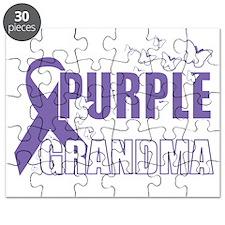Alzheimers-Purple-For-GRANDMA-2009-blk Puzzle