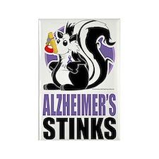 Alzheimers-Stinks Rectangle Magnet