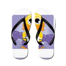 Knock-Out-Alzheimers-blk Flip Flops
