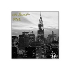 "midtown_skyline,_new_york_c Square Sticker 3"" x 3"""