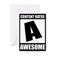 content_rated_awesome Greeting Card
