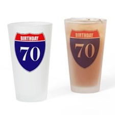 is70birth Drinking Glass