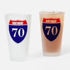is70birth Drinking Glass