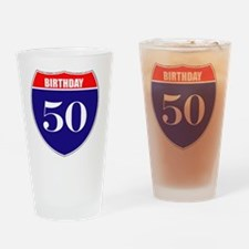 is50birth Drinking Glass
