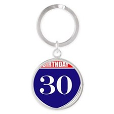 is30birth Round Keychain