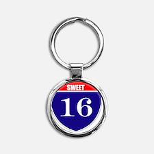 is16birth Round Keychain