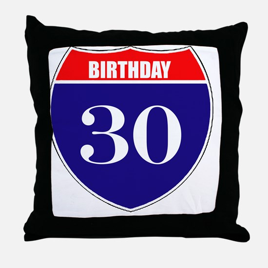 is30birth Throw Pillow
