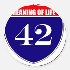 is42mol Round Car Magnet
