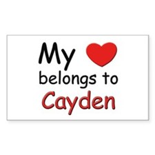 My heart belongs to cayden Rectangle Decal