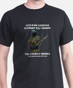 Liberals Support The Troops T-Shirt