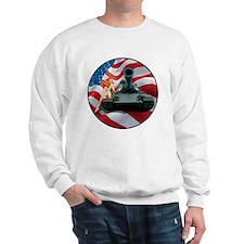 Tank Pinup Girl Sweatshirt