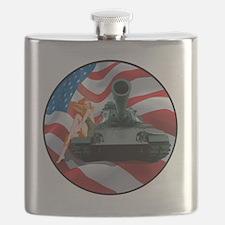 Tank Pinup Girl Flask