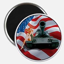 Tank Pinup Girl Magnet