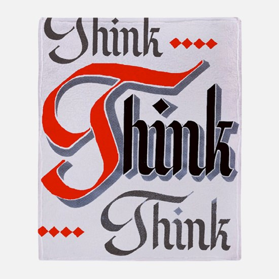 aa_think_think_think Throw Blanket