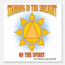 "2-star-in-sunlight-web Square Car Magnet 3"" x 3"""