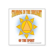 "2-star-in-sunlight-web Square Sticker 3"" x 3"""