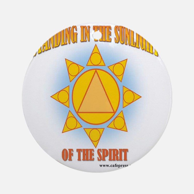 2-star-in-sunlight-web Round Ornament