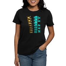 Just Zip It Women's Black T-Shirt