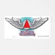 wings-web-site Aluminum License Plate