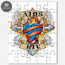 AIDS-HIV-Cross--Heart Puzzle