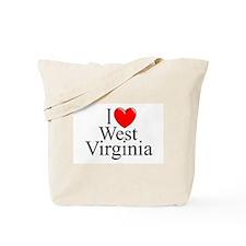"""I Love West Virginia"" Tote Bag"
