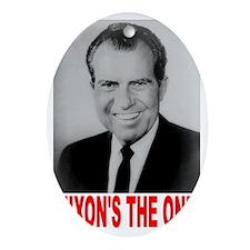 ART Nixons the one Oval Ornament